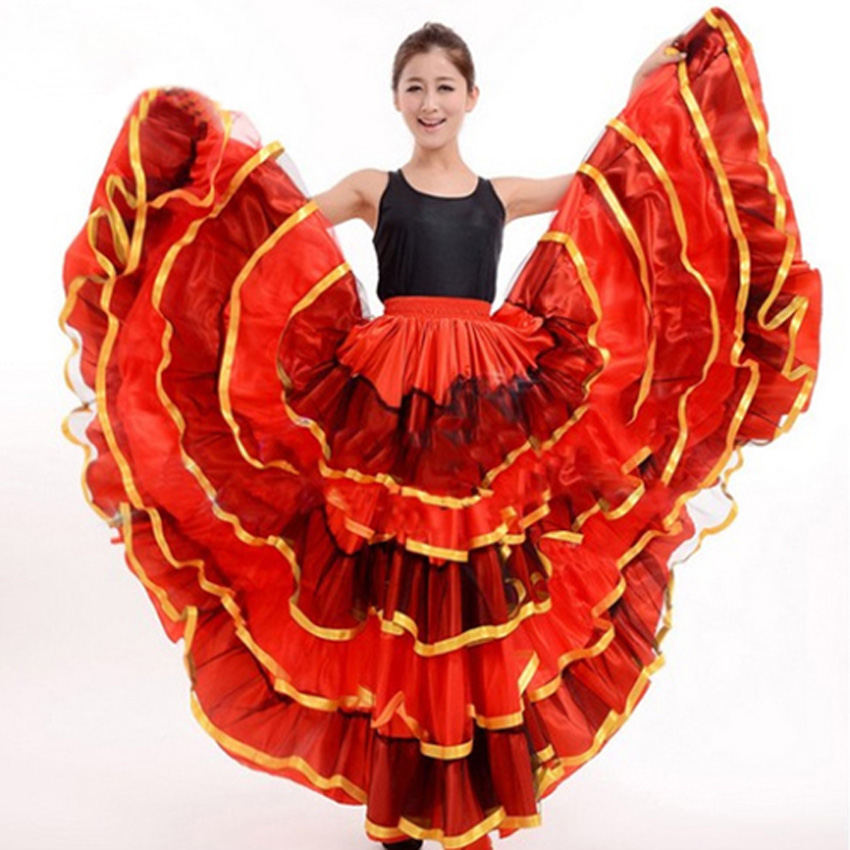 bc77c26bc 2019 Flamenco Skirt Ladies Spanish Flamenco Fancy Dress Dance Skirt ...
