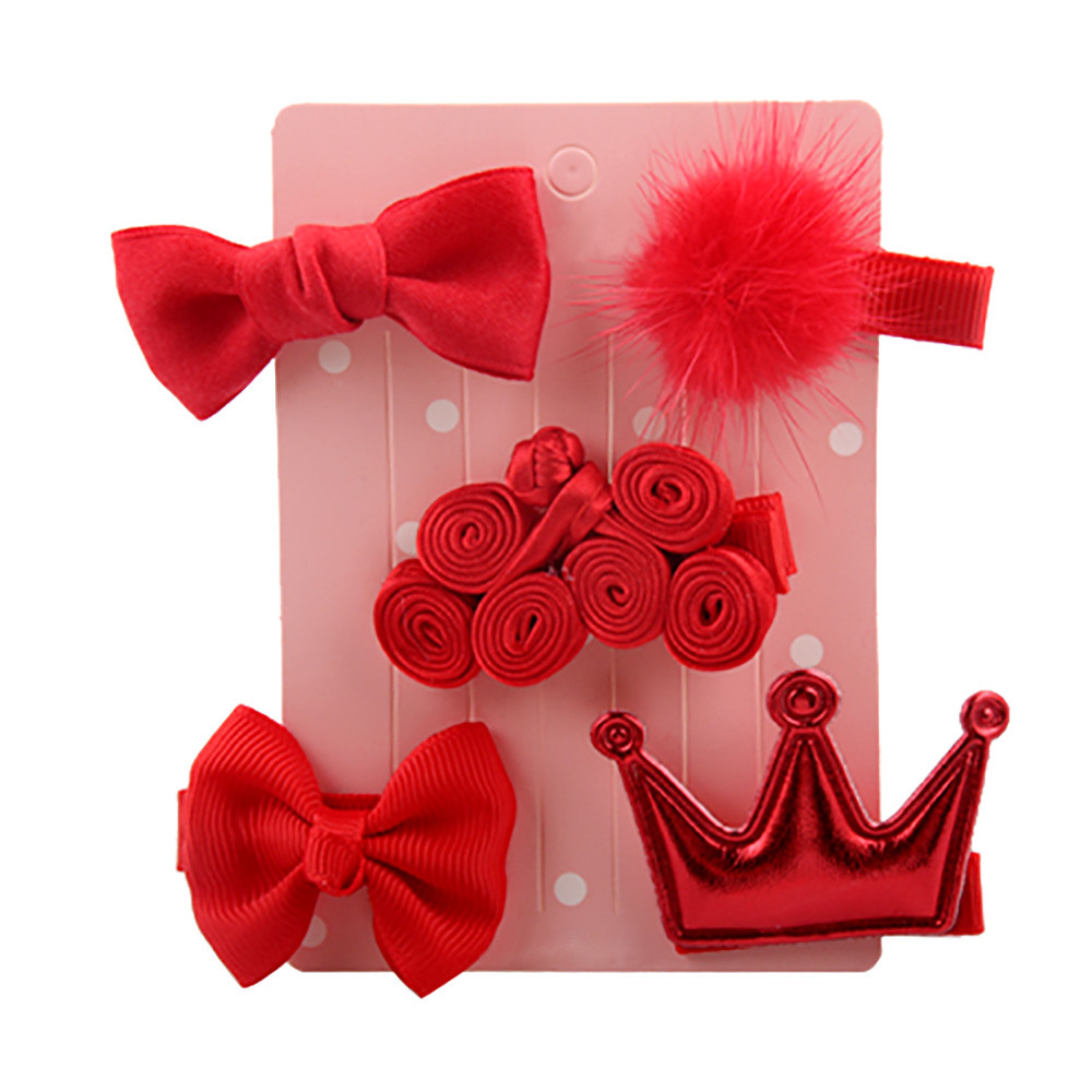 2019 Cute 5Pcs Kids Infant Hairpin Baby Girl Cartoon Animal Motifs Hair Clip Set Horquillas De Pelo Para Ni A Hair Clip For Girl