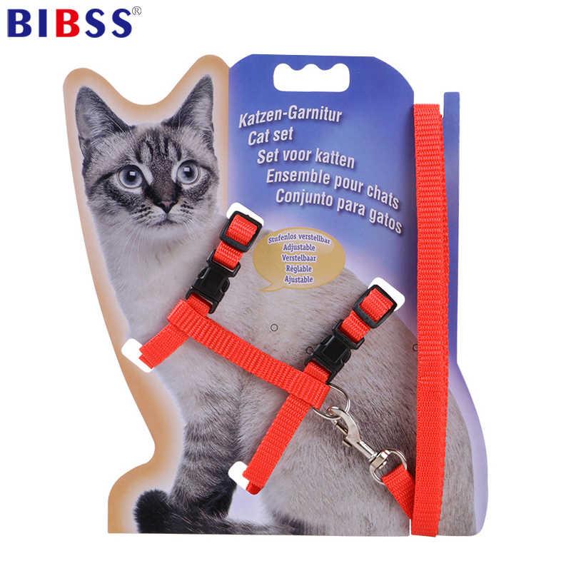 Нейлоновый поводок и поводок для кошек, товары для животных, регулируемый поводок для собак, поводок для кошек, котенок, ошейник для кошек