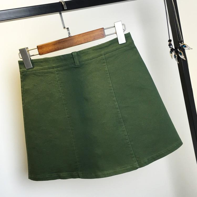 HTB1XkwUMpXXXXc2XVXXq6xXFXXX1 - American Apparel button Denim Skirt JKP265