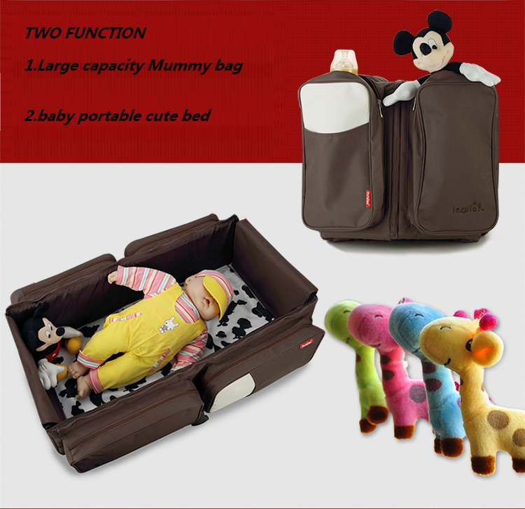 Νησιώδες νεογέννητο Φορητό παιδικό παχνί 2 σε 1 πολυλειτουργική τσάντα μητέρας Κρεβάτι μωρού πλένεται πτυσσόμενο μικρό παιδί παιδικό κρεβάτι