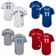 MLB Men's Toronto Blue Jays Kevin Pillar Baseball Flex base 4 colors Jersey