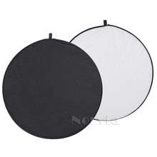 24″ 60cm 5 in 1 Portable Collapsible Light Round Photography White Silivery Reflector for Studio Multi Photo Disc Diffuers