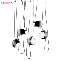 DIY Vintage Retro Black Pendant Lights Iron Lamp Shades Loft Designer For Dining Room Industrial Simple