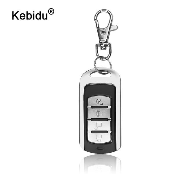 Kebidu 433MHZ otomatik çift kopya uzaktan teksir 4 düğmeler garaj kapısı kapı uzaktan kumanda öğrenme kopyalama anahtarlık ile