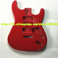 ST guitar, piano, big red light, standard size, the body electric guitar
