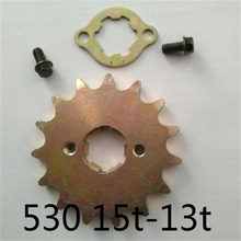 ATV UTV quad GY6 - B2 150CC 200CC sprocket tandwiel 13T - 15T 25mm for 530 chain gokart karting cf moto cfmoto rzr parts цена 2017