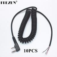 עבור baofeng 10pcs DIY 4wire 2pins Plug מיקרופון כבל K עבור KENWOOD Wouxun Baofeng PUXING לינטון Tyt Quansheng מכשיר הקשר W (1)