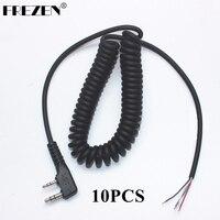 מכשיר הקשר 10pcs DIY 4wire 2pins Plug מיקרופון כבל K עבור KENWOOD Wouxun Baofeng PUXING לינטון Tyt Quansheng מכשיר הקשר W (1)