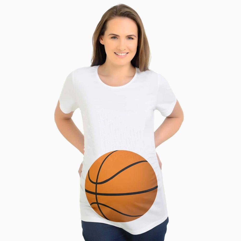 Aggressive Plus Size Pregnancy Clothes Basketball Print Maternity Shirt For Pregnant Women T-shirt Summer Premaman Zwangerschaps Kleding Factories And Mines Tees