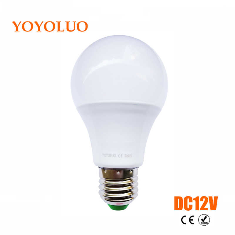 LED ampoules E27 DC 12V LED lumières Lampada LED Smart IC réel puissance LED projecteur bombillas LED 3W 6W 9W 12W 15W blanc