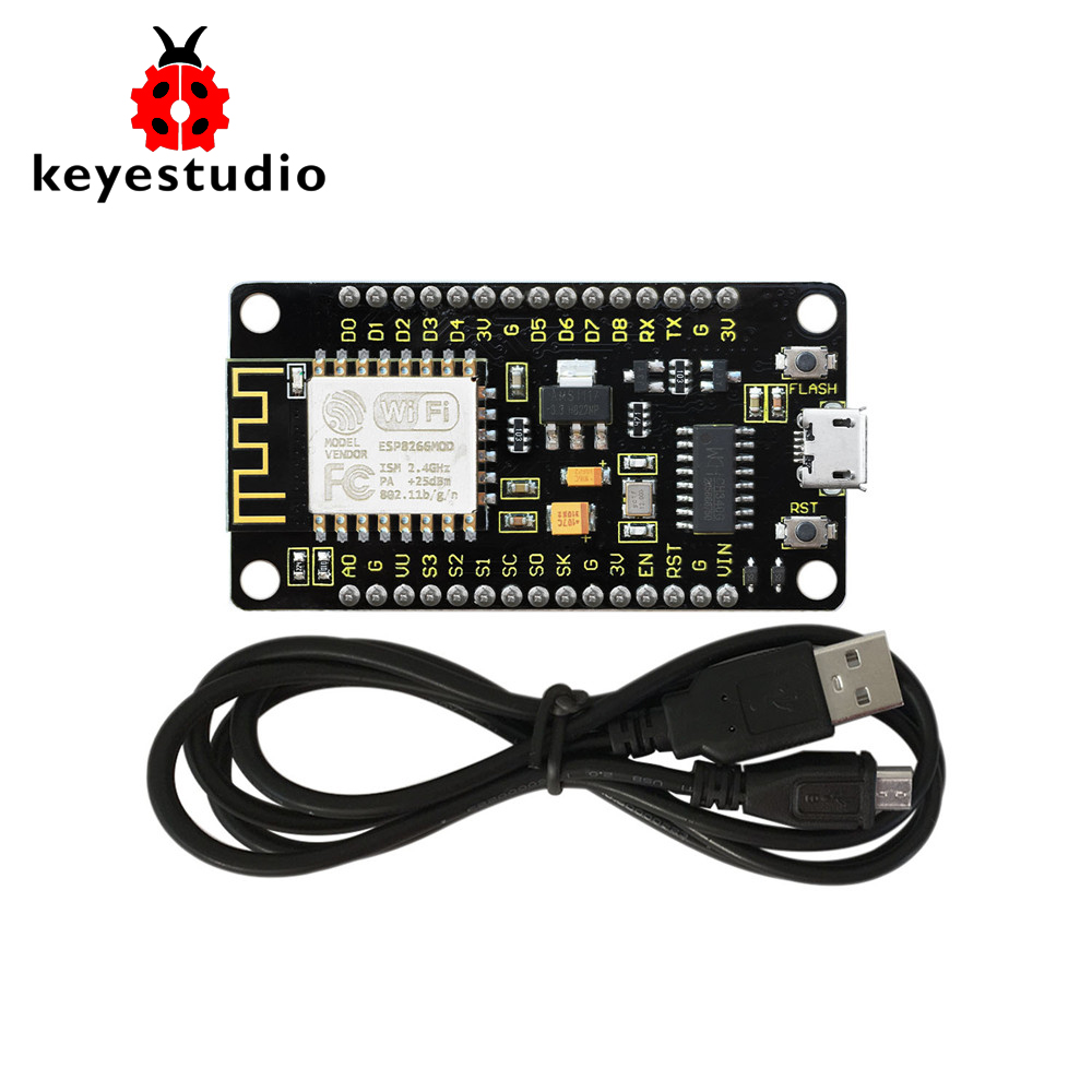 NEW! Keyeastudio NodeMcu Lua ESP8266 ESP-12F WIFI Module +1M USB Cable /Development Board  /Compatible with NetworkingNEW! Keyeastudio NodeMcu Lua ESP8266 ESP-12F WIFI Module +1M USB Cable /Development Board  /Compatible with Networking