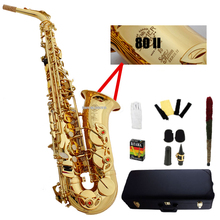 Франция Selme SAS-802 Золотой Саксофон-альт Eb альт-саксофон Золотой saxofone профессиональные музыкальные инструменты с случае мундштук