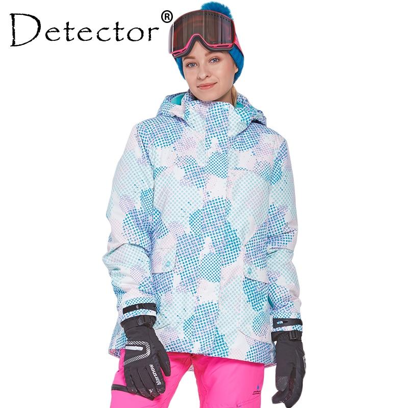 Detecteur femme Ski neige veste imperméable coupe vent thermique manteau randonnée Camping cyclisme veste hiver Ski veste