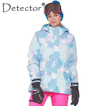Detector Women Ski Snow Jacket Waterproof Windproof Thermal Coat  Hiking Camping Cycling Winter