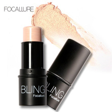 Beauty Makeup Highlighter Stick For Face Shimmer Bronzer And Highlighting Powder Creamy Texture Silver Shimmer Light Sugar Box