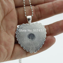 New Silver Heart Shaped Necklaces