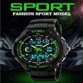 Skmei relojes deportivos de marca de moda casual relojes hombres s-shock reloj de pulsera de cuarzo analógico reloj militar led dígitos montre homme