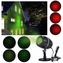 IP44 Outdoor Christmas Starry Red Green Blue Laser Light Projector with Remote Control for Party Wedding Garden Yard Wall Decor