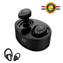 Buy XiaoWu In-Ear Earhphones Wireless Bluetooth Stereo Handsfree Headset with Microphone and Charging Box for Iphone8 plus+Ear hook