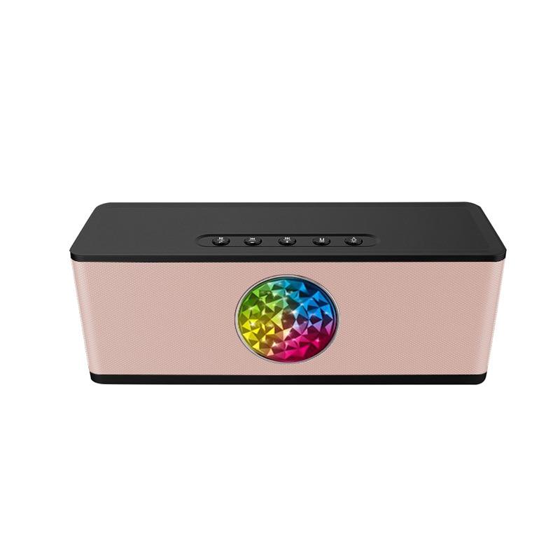 Haut-parleur Bluetooth 2000 mAH batterie externe Portable Super basse sans fil bureau voiture HIFI haut-parleur enceinte LED pour les téléphones