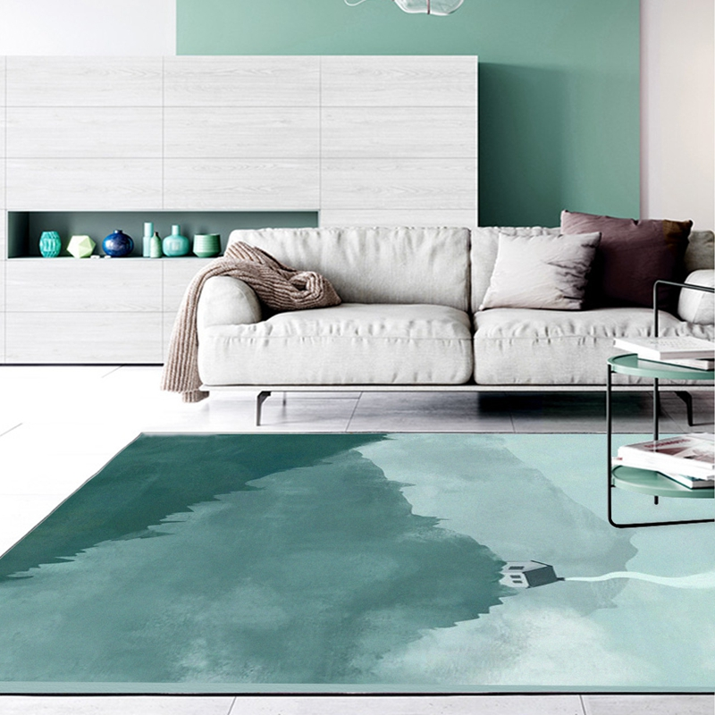 Large Size Area Rugs Ink Painting Printed Carpets And Rugs Non