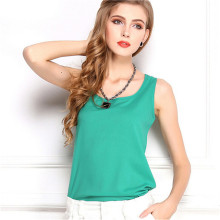 Sleeveless Female Chiffon Tank