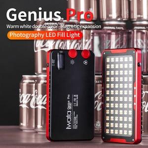 Image 2 - Iwata Gênio Pro GP 01 PRO 24 W 2600 K 6000 K Ajustável LED Luz de Preenchimento com Buit em bateria de lítio de Telefone Portátil CONDUZIU A Luz De Vídeo