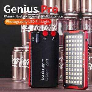 Image 2 - Iwata Genius Pro GP 01 PRO 24 W 2600 K 6000 K lumière de remplissage de LED réglable avec batterie au Lithium intégrée téléphone Portable LED lumière vidéo