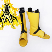 Anime Naruto Cosplay Shoes Naruto Uzumaki Anime Cosplay Yellow Boots Free Shipping