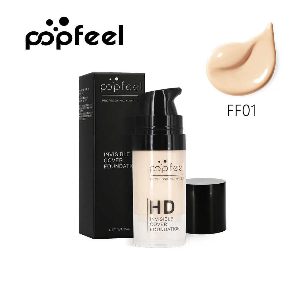 מקצועי איפור HD בלתי נראה כיסוי יסוד נוזלי פנים איפור בסיס להאיר קרם עור פנים חלק קרמים להסתיר נקבוביות