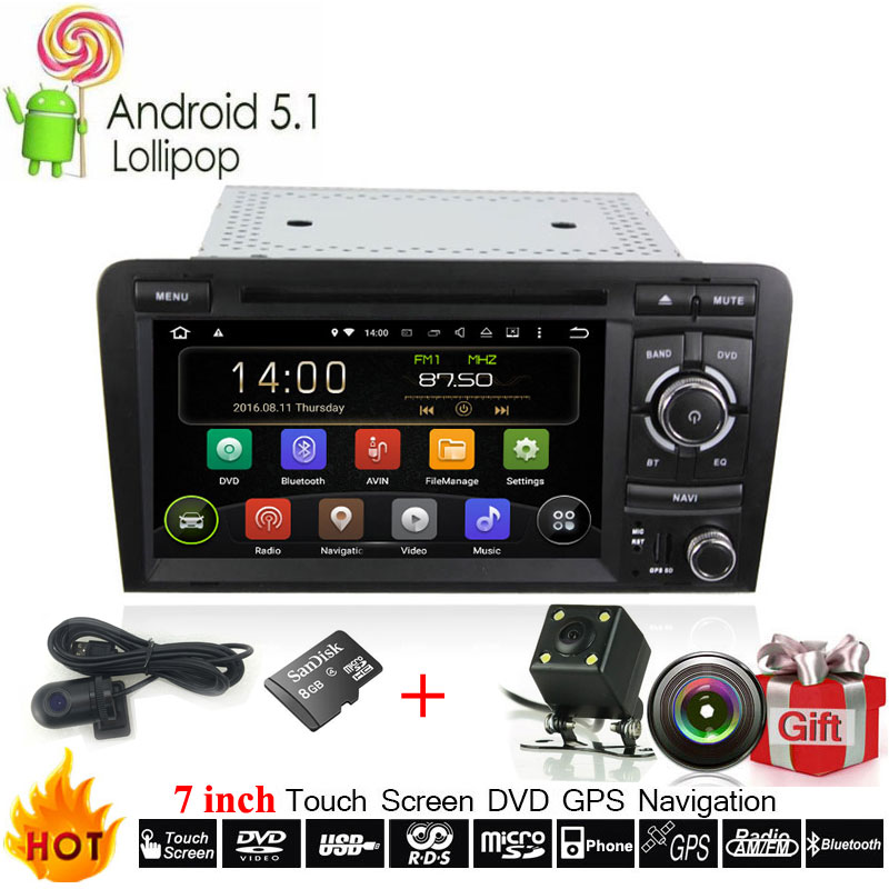 Automotive Multimedia Android 9 OS Für Audi A3 S3 Auto DVD Player Mit DVR Kamera GPS Navigation System Radio Stereo Kopf einheit
