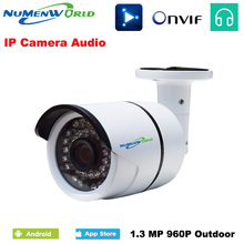 Hot 1.3MP Audio input 960P IP Camera Onvif Outdoor Security Waterproof Night Vision CCTV security IP camera surveillance system