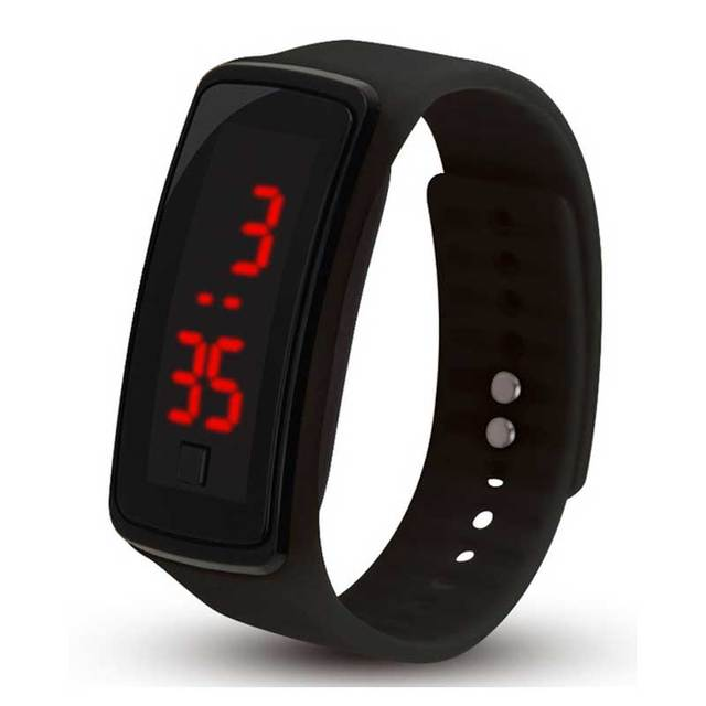 High quality boys girls digital watches LED red light student Sports Bracelet Wa