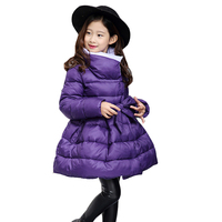 Children Down & Parkas winter style girls 6 7 8 9 10 12 years old kids fashionable cotton-padded jacket baby girls costume
