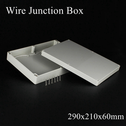 1 piece 290*210*60mm Grey ABS Plastic IP65 Waterproof Enclosure PVC Junction Box Electronic Project Instrument Case 290x210x60mm