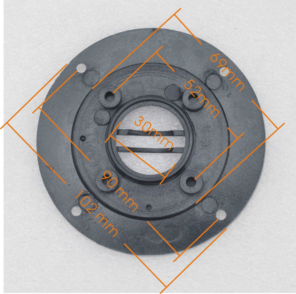 2PCS OD102mm Speaker Tweeter Cover Panel Decorative Circle Fixed Plate 30mm Hole
