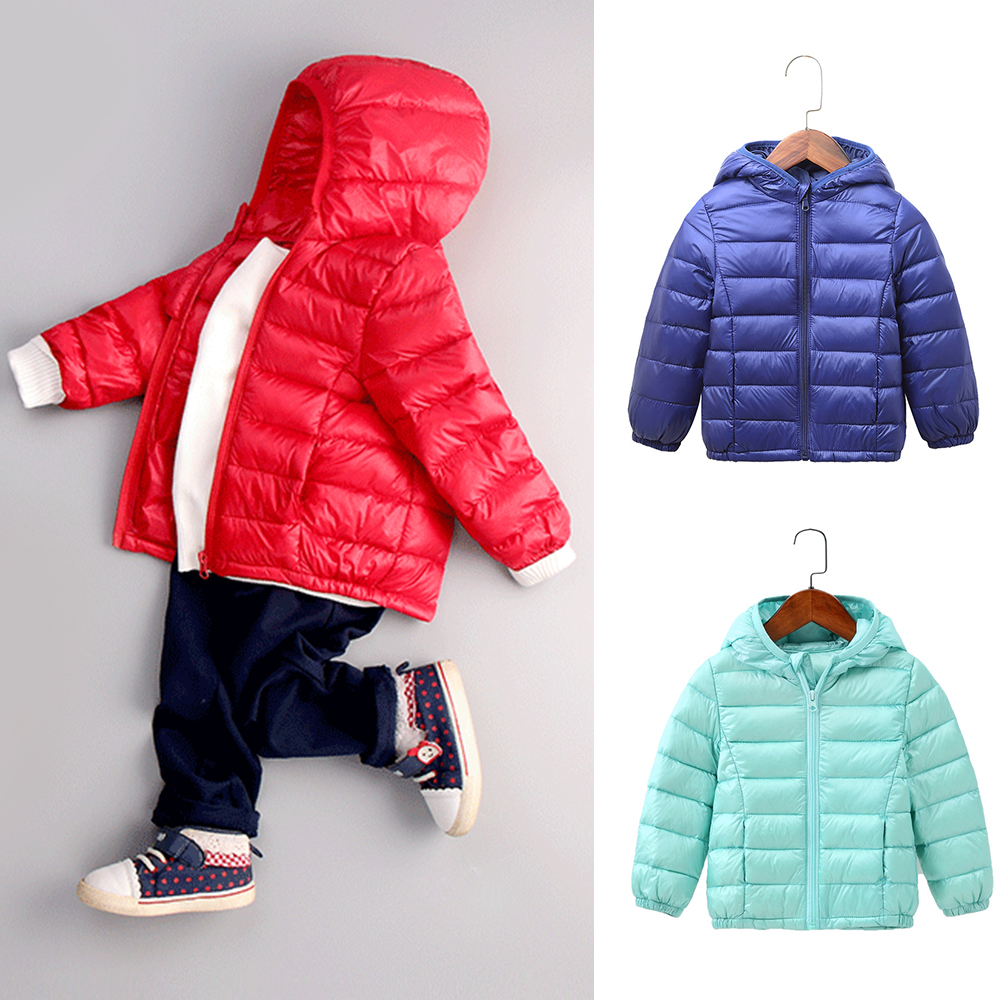 90% White Duck Down Coat Feather Ultra Light Down Jacket Snowsuit Brand Outerwear Cold Winter Warm Hooded Children Clothes