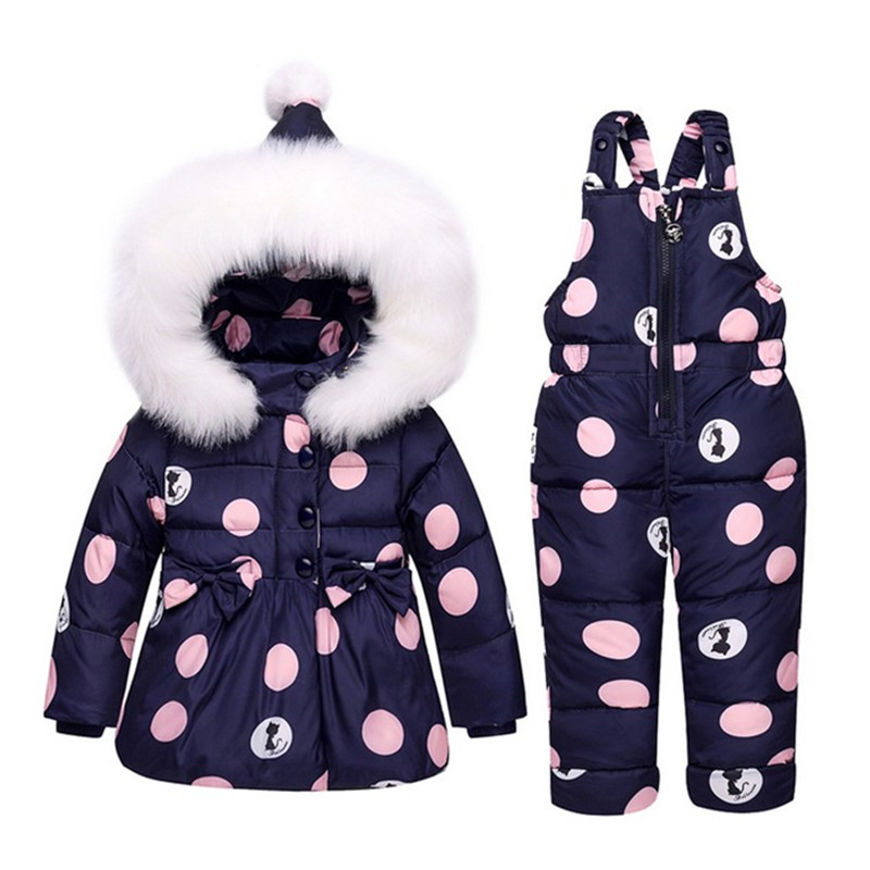 c50f67130 Children Clothing Set Baby 80% White Duck Down Jacket+Jumpsuit ...