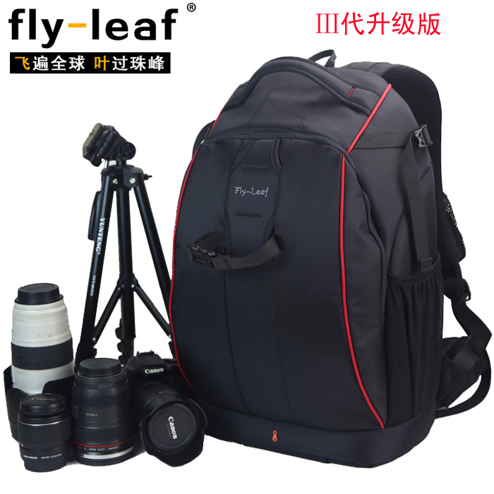 Hot sale FlyLeaf FL-326 anti-theft slr professional double-shoulder camera bag FL326  camera backpack big bag fly leaf camera bag backpack anti theft camera bag with 15 laptop capacity for dslr slr camera