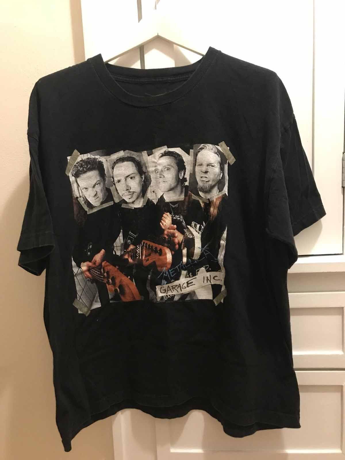 80fa8f89 Vintage Metallica Garage Inc 1998 T Shirt Mens Size XL GIANT Tag Summer  2018 shirt Short Sleeve Plus Size