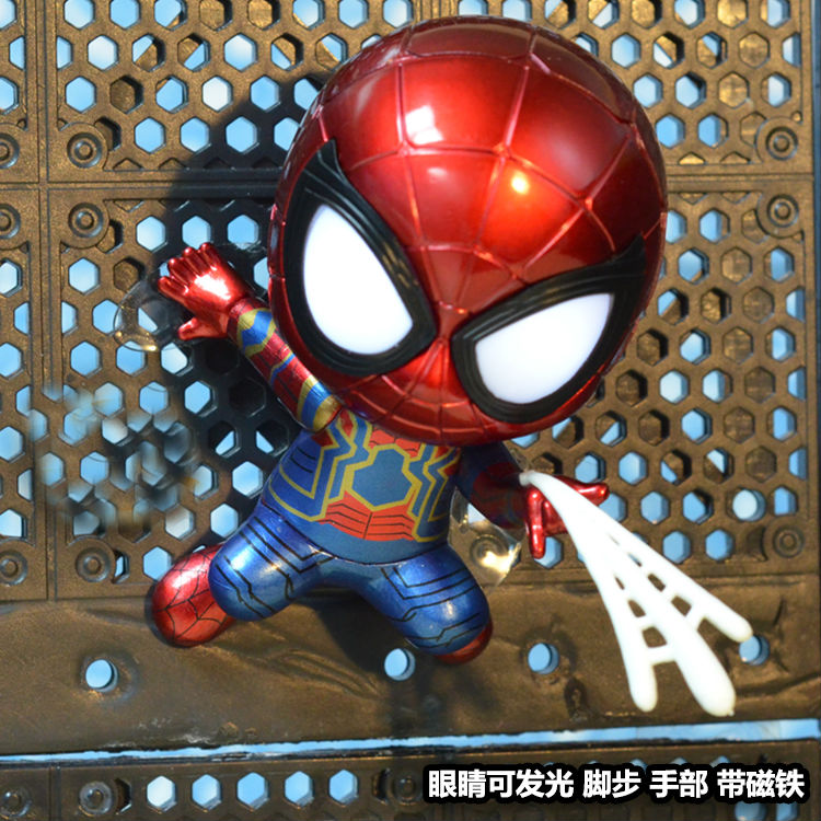 Hot Toys Bobble-head Spider-man Action & Toy Figures Homecoming Cosbaby Toy Figure For Car Decoration