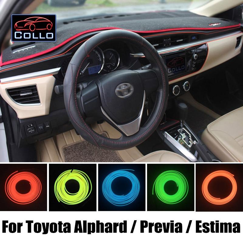 Flexible Neon Cold Light EL Wire For Toyota Alphard / Vellfire / Previa / Canarado / Estima / Tarago / Console Decorative Strip sakura sa 2318a