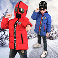 Parkas Crianças Inverno Algodão Revestimento do Estofamento com Óculos do homem aranha Halloween Com Capuz Engrossar Casacos para Meninos Meninas LSC02