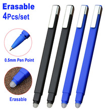 4Pcs/set 0.5mm Erasable Gel Ink Pen Magic Erasable Pen Blue Black Ink Office School Writing Supply Student Stationery Study Tool цена 2017