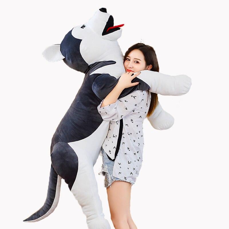 New 60cm-90cm Cute Plush Dog Toy Simulation Stuffed Animal Soft Doll Lifelike Husky Dog Puppy Kids Toys Children Girlfriend Gift