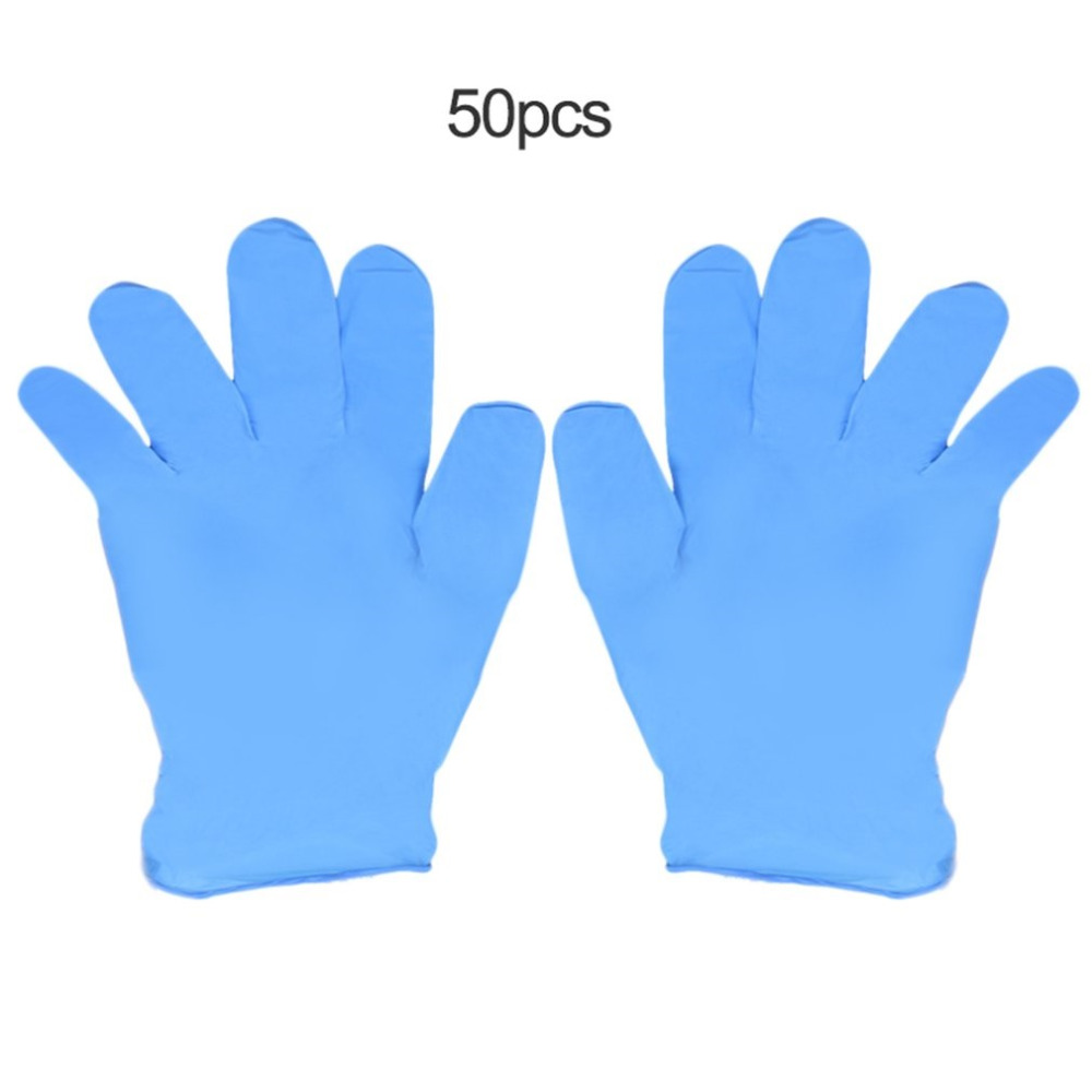 FGHGF 50pcs/box Work Gloves Nitrile Disposable Gloves Wear Resistance Chemical Laboratory Electronics Food Medical Testing Sale 20ml disposable plastic laboratory supplies sterile syringes 50pcs
