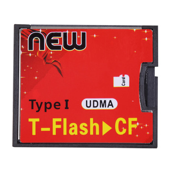 Hot T-Flash to CF type1 Compact Flash Memory Card UDMA Adapter Up to 64GB Wholelsae Dropshipping