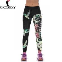 Fashion Lycra Skull leggings printed Sporting Leggings fitness Women leggins Yoga Trouser High Elastic leggin women Pants 133