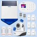 KERUI наружная Солнечная вспышка wifi камера GSM охранная сигнализация Система люкс беспроводная домашняя заявка система контроля безопасности